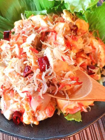 超香味刺激。カリカリ海鮮しらすの極旨ペペロンチャンプル(糖質4.9g)