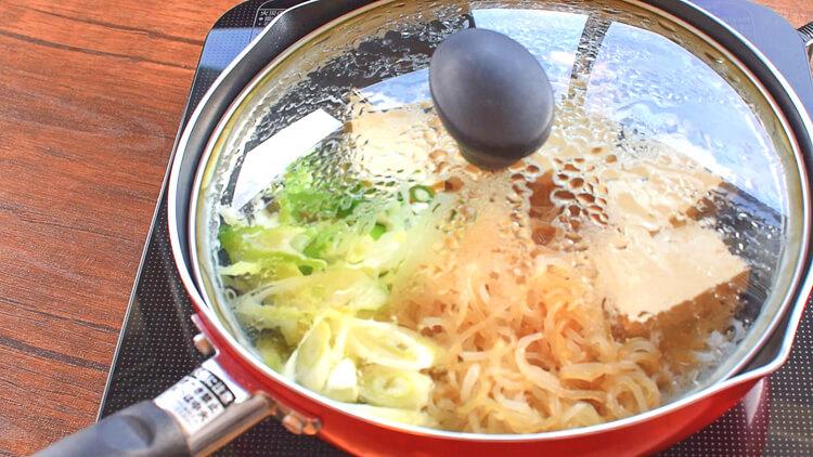 元気16倍!柔らか豚こまの絶品バター生姜醤油すきやき(糖質8.9g)