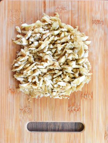 レンチン進化版。滑らかさ最高の煮びたし風ナス生姜餃子(糖質8.2g)