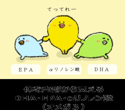 体を内部から支える DHA・EPA・αリノレン酸 (オメガ3)