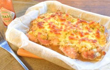 熱々激うま。まるごと味噌葱チーズマヨチキン焼き(糖質4.5g)