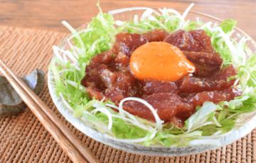 安旨最高!速攻美味しい白髪レタスの韓国風カツオユッケ(糖質6.3g)