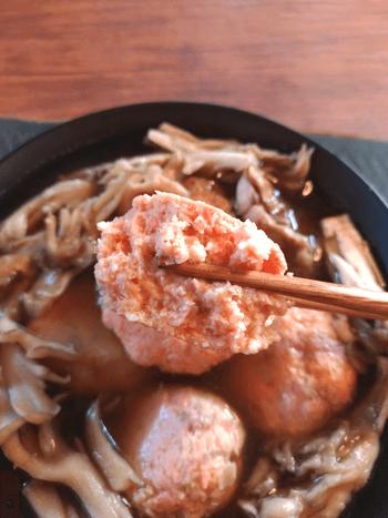 是非飲んで!ふわり鮭キノコつみれ出汁柚子胡椒鍋(糖質5.4g)