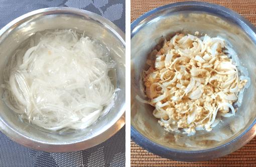 玉葱オートミールお好み焼き(新玉葱なら尚良し)