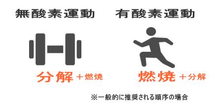 """""""筋トレ=分解 ランニング=燃焼"""