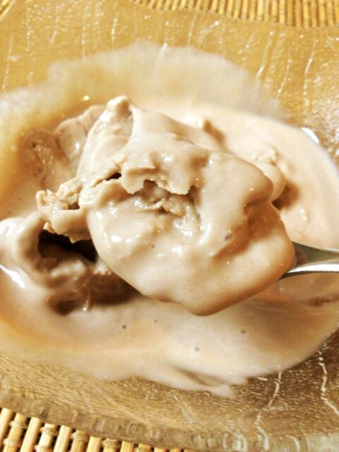 無調整豆乳+プロテインの実食