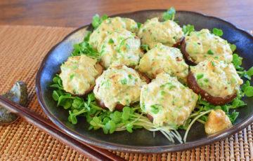 お野菜激ウマ!至福の椎茸ピーマン鶏マヨガーリック(糖質4.4g)