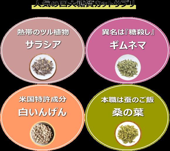 四大糖質カットサプリメント