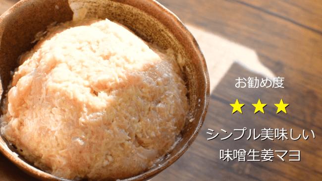 シンプルな味噌生姜