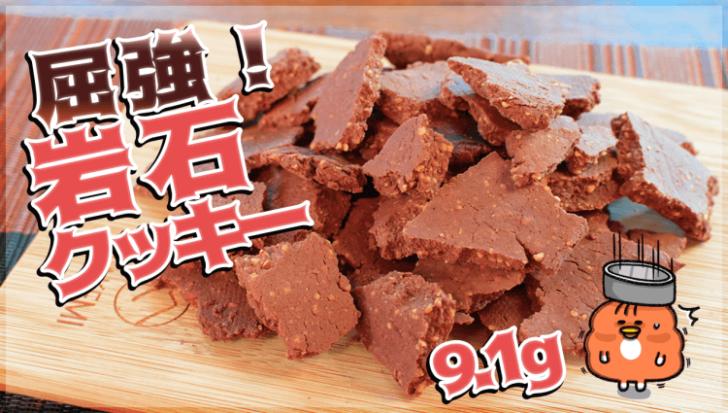 まるで爆弾岩!噛むほど旨いきな粉ココアの屈強おからクッキー(糖質9.1g)