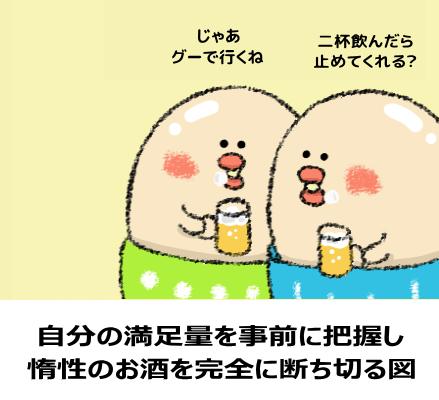 惰性でお酒を飲む習慣を断ち切る図
