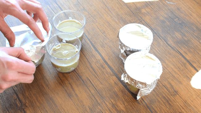 極上滑らか!お鍋で簡単蜂蜜アーモンド濃厚黒ゴマプリン(1個糖質3.8g)