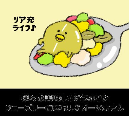 ミューズリーに含まれる様々な食品