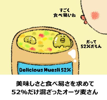 オーツ麦と他の食材の割合