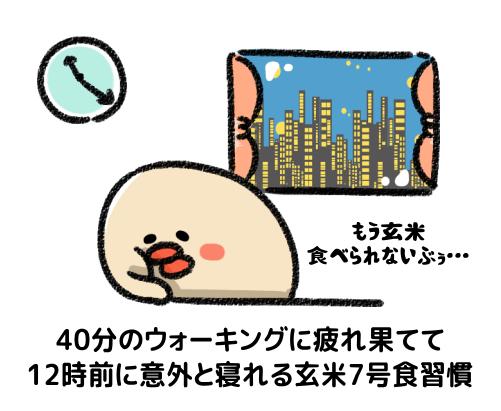 玄米7号食における睡眠と食事