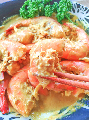 目指せ渡り蟹先輩。絶品濃厚アジアンガーリックシュリンプ(糖質6.7g)