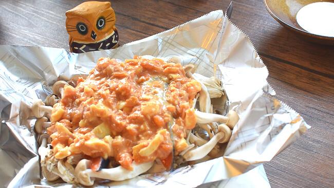 パカッと最高!オーロラッキョタルタルの絶品鮭ホイル焼き(糖質7.2g)