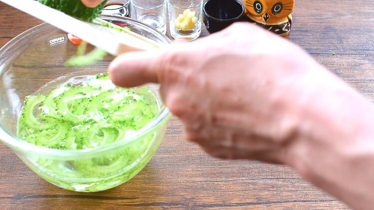 シャスデリ最高!薄ゴーヤのチリポンおろし温豚しゃぶ(糖質7.0g)