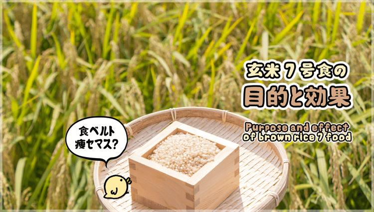 玄米7号食の目的と効果