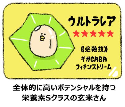 """栄養豊富な玄米の図"""""""