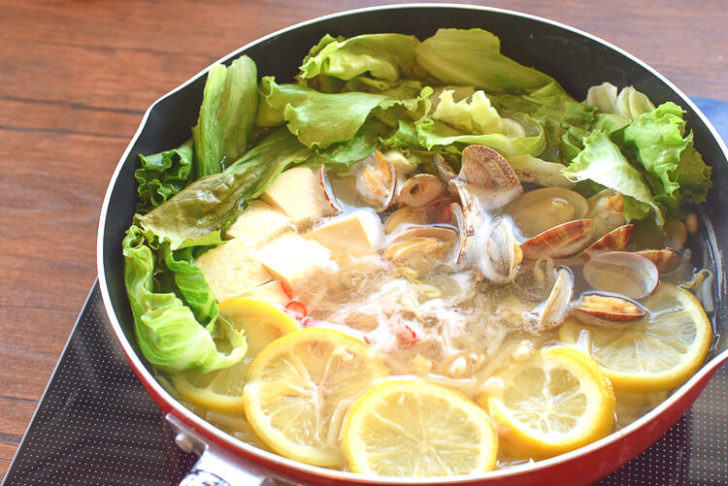 いざ具沢山系!ヘルシーが過ぎる美味しい海鮮レモン鍋(糖質8.6g)