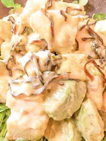 暴挙な美味しさ!激柔ささみと柚子胡椒マヨの塩昆布アボカド(糖質1.9g)