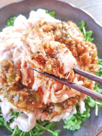 クレイジーな味わい!肉汁封印絶品よだれ豚ネギしゃぶ(糖質5.7g)