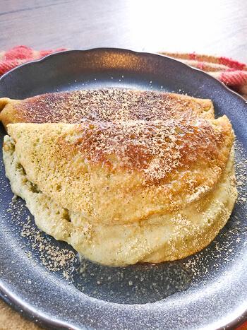 順番超大切!激フワ塩抹茶の絶品おからメレンゲパンケーキ(糖質2.4g)