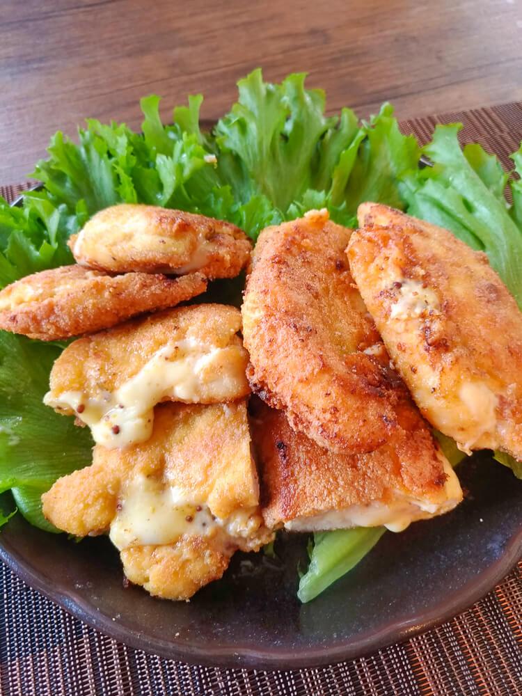 より簡単大盛りに!ミラノ風マスタードチーズチキンカツ(糖質1.6g)