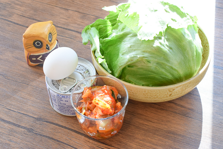 旨さに満足!爆速美味しい半玉レタスの鯖生姜ユッケサラダ(糖質5.2g)