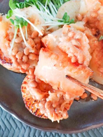 未知の美味しさ!おろし納豆辣油の絶品塩バター大根ステーキ(糖質9.1g)