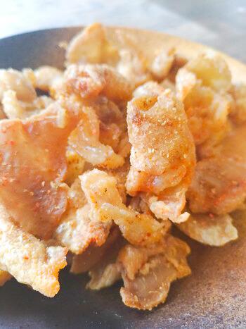 低カロに!臭み激減の絶品旨塩山椒一味パリパリ鶏皮(糖質0.2g)
