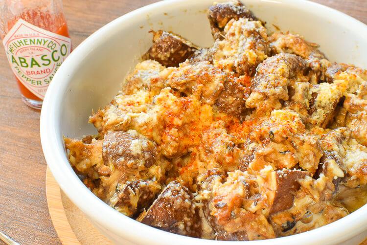 秋を満喫!旬の茸の超楽美味しい鯖味噌マヨガーリック(糖質4.1g)